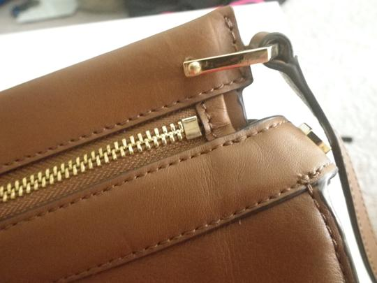 Louise et Cie Leather Gold Hardware Classic Cross Body Bag Image 7
