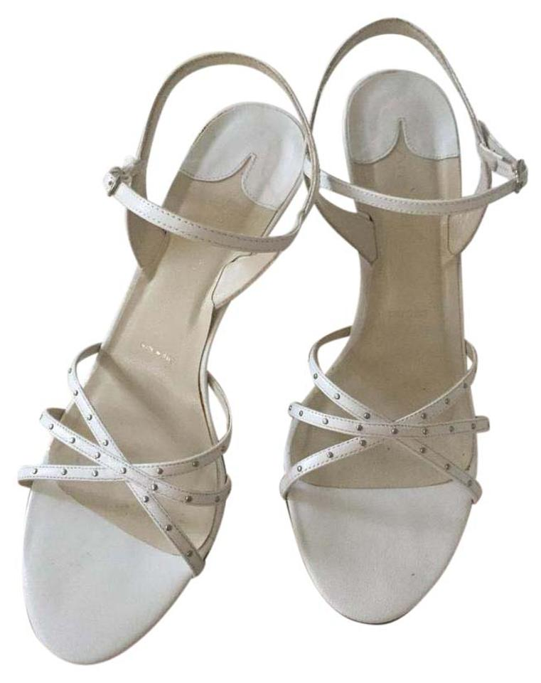3b19d5dab21 Amalfi White For Nordstrom Italian Leather High Heel Sandals Size US ...