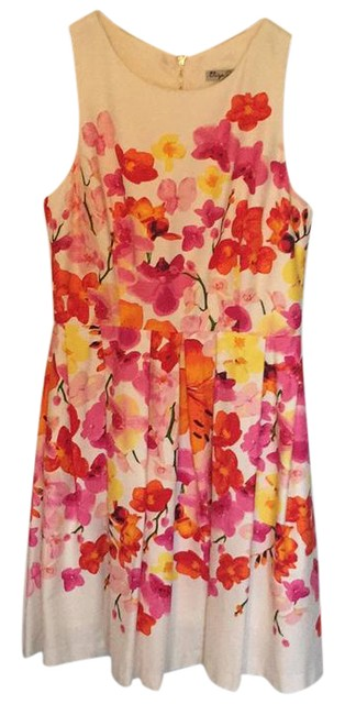 Preload https://img-static.tradesy.com/item/21534793/eliza-j-pink-orange-yellow-white-floral-day-mid-length-short-casual-dress-size-6-s-0-1-650-650.jpg