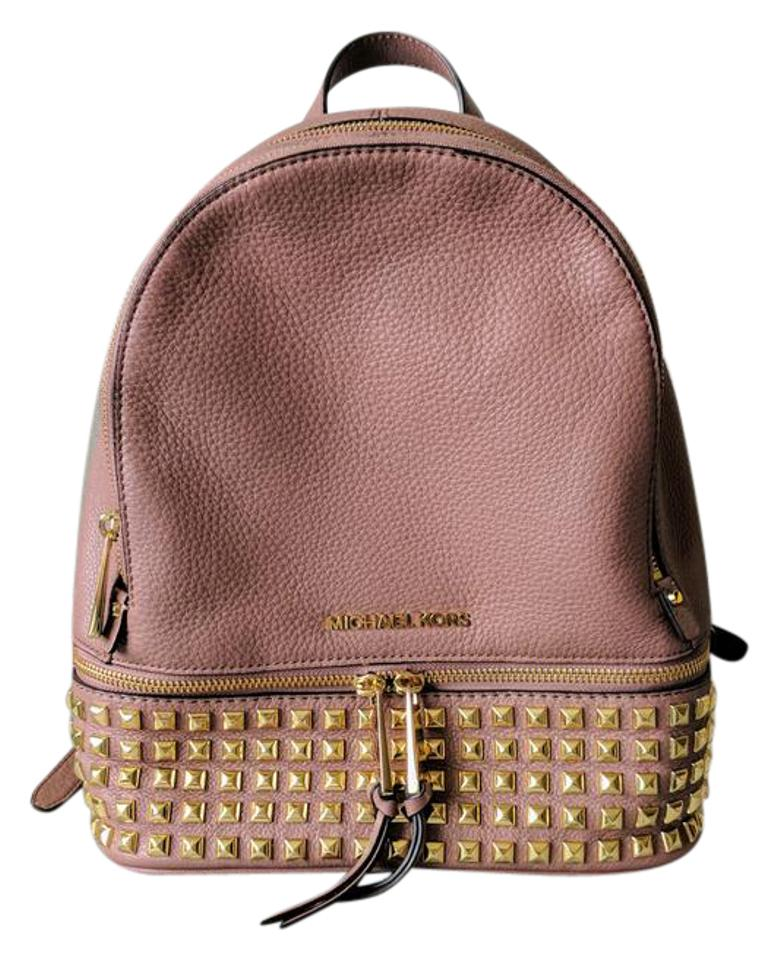 michael kors rhea medium studded leather backpack on sale. Black Bedroom Furniture Sets. Home Design Ideas
