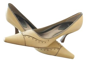 Linea Paolo Leather Creme Pumps