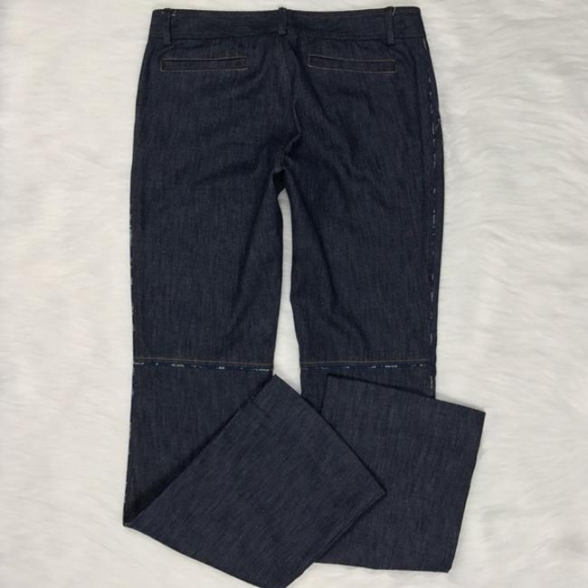 Rebecca Taylor Trouser Denim Pant Boot Cut Jeans-Dark Rinse Image 4