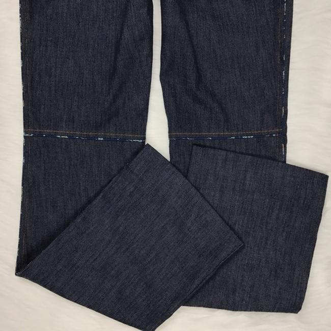 Rebecca Taylor Trouser Denim Pant Boot Cut Jeans-Dark Rinse Image 7