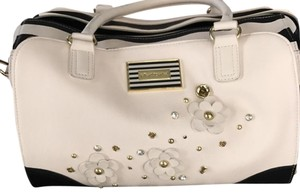 Betsey Johnson Satchel in black and white
