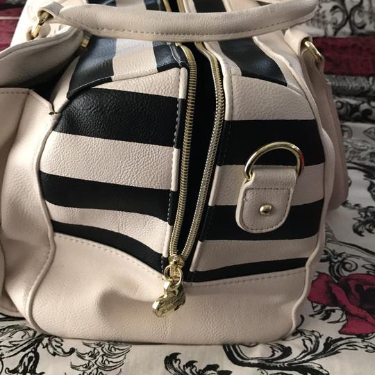 Betsey Johnson Satchel in black and white Image 2