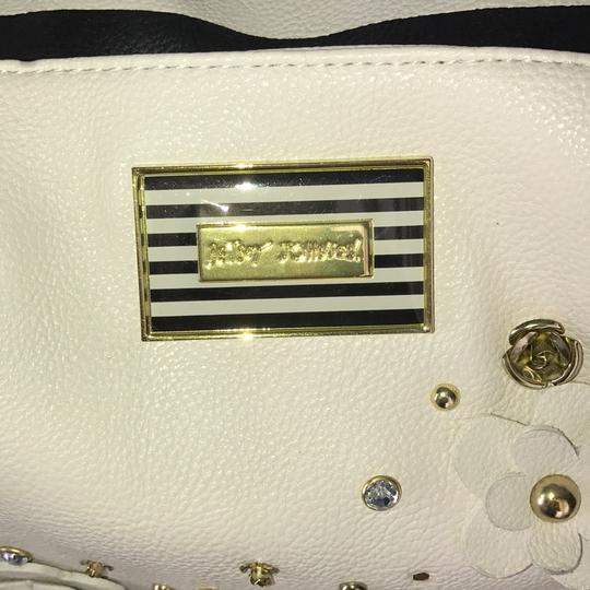 Betsey Johnson Satchel in black and white Image 5