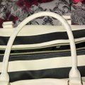 Betsey Johnson Satchel in black and white Image 6