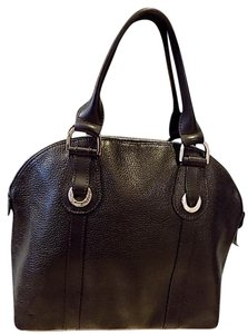 Longchamp Leather Satchel in black