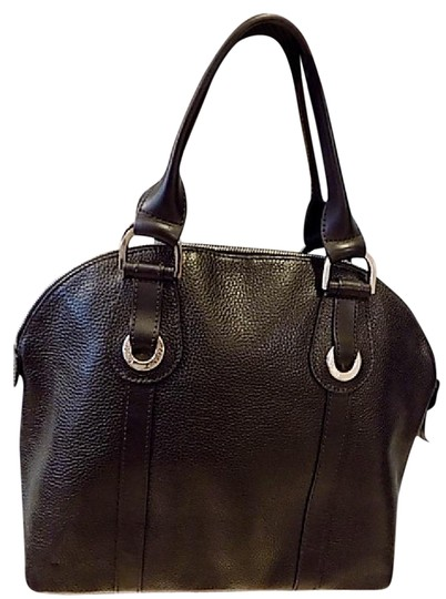 Longchamp Leather Satchel in black Image 0