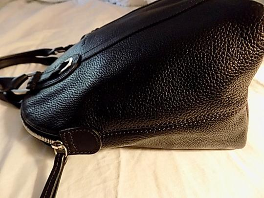 Longchamp Leather Satchel in black Image 11