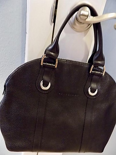 Longchamp Leather Satchel in black Image 3