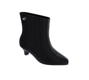 Melissa Eco-friendly Moschino Designer Fashion Rain Black Boots