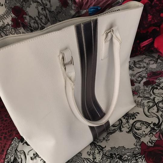 JustFab Tote in White Image 1