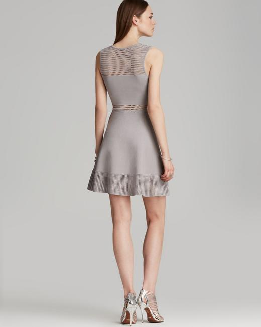 Torn by Ronny Kobo short dress gray Fit And Flare Knit Open Knit on Tradesy Image 1