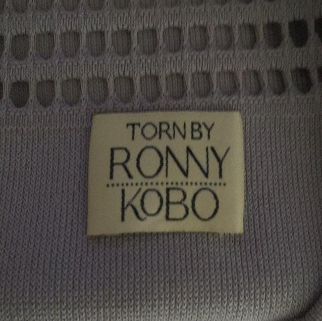 Torn by Ronny Kobo short dress gray Fit And Flare Knit Open Knit on Tradesy Image 11