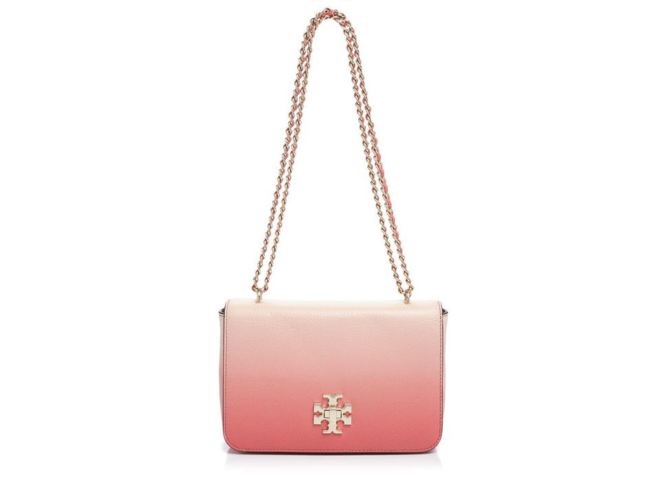 fa920fd4b443 Tory Burch Mercer Degrade Spiced Coral Pebbled Leather Shoulder Bag -  Tradesy