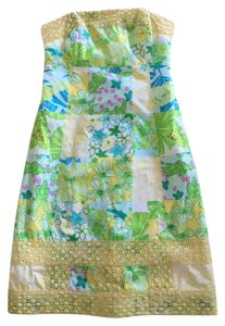 Lilly Pulitzer short dress Yellow, green, blue patchwork on Tradesy