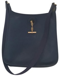 Hermès Navy Shoulder Vintage Messenger Cross Body Bag