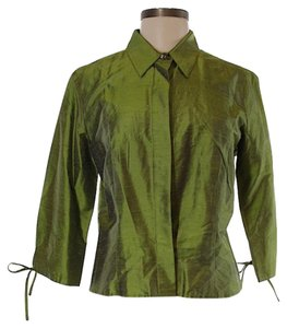 J. Peterman Button Down Shirt Green