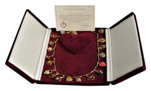 """Joan Rivers JOAN RIVERS Complete 19 Piece HEARTS & FLOWERS Charm 26"""" Necklace"""