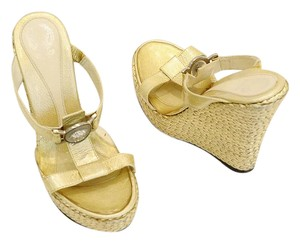Versace gold Mules