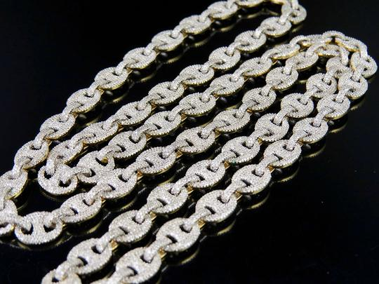 Other 10K Yellow Gold Real Diamond Puff Mariner GG Chain Necklace 16.8 CT Image 5