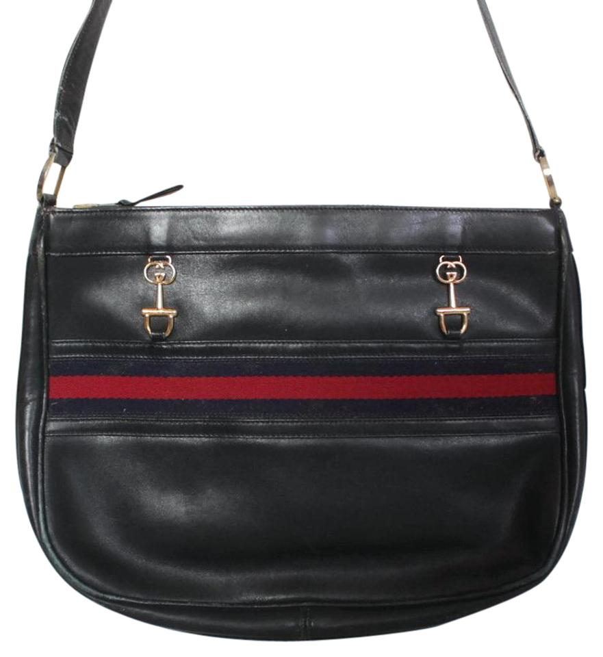 a3ec87e6fe9 Gucci Hardware Equestrian Accents Red Blue Accents Mint Vintage Hobo Bag  Image 0 ...