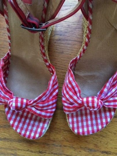 Nordstrom Red/White Wedges