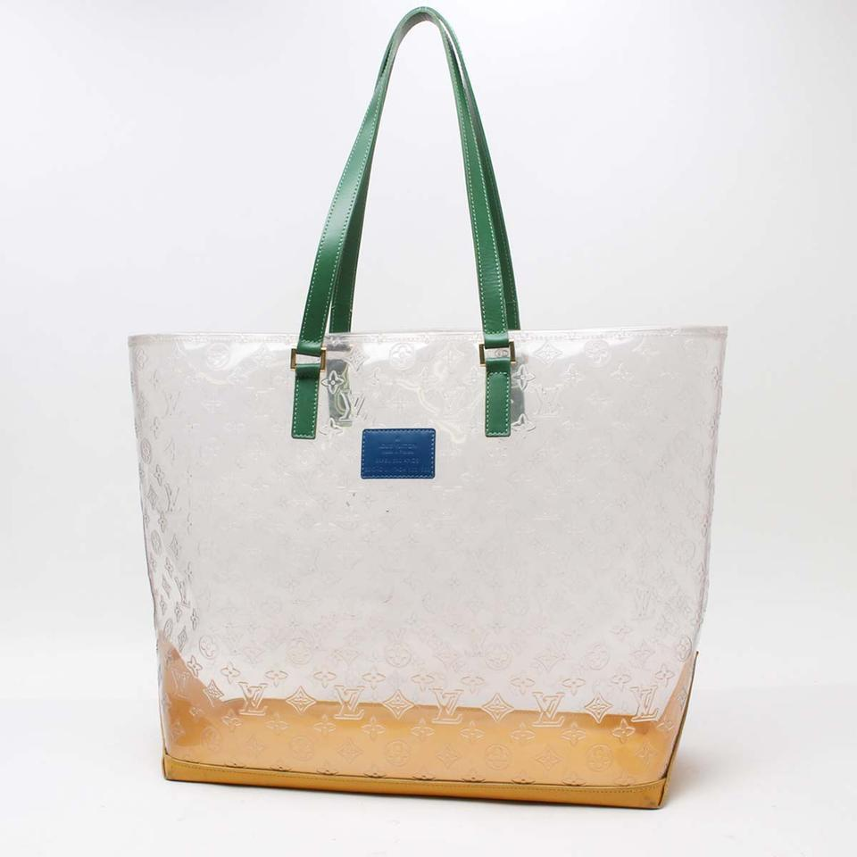Louis Vuitton Ambre Amber Cabas Cruise Clear Beach Tote In Yellow 123456789101112