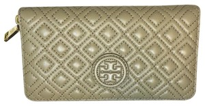 Tory Burch Marion Quilted Multi-Gusset Zip Continental Wallet French Gray