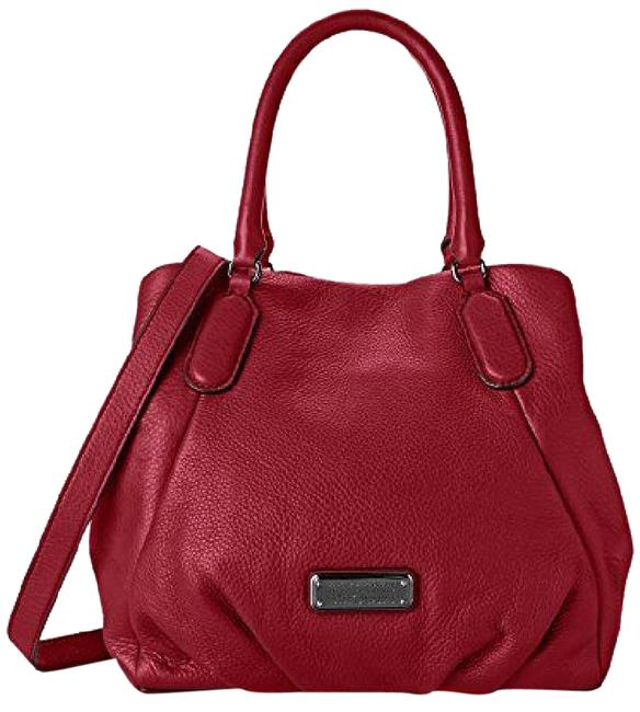 Item - Tote Q Fran Canyon Italian Convertible Purse *nwt* Red/Silver Nickel Hardware Leather Shoulder Bag