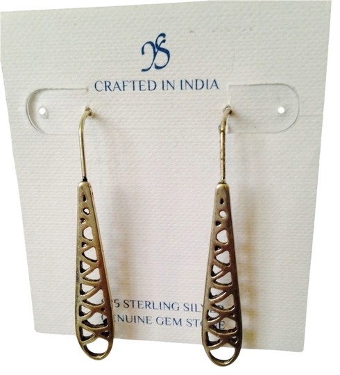 JS Collections Sterling Silver Long Earrings