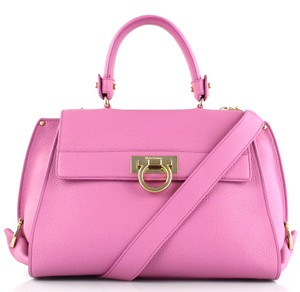 Salvatore Ferragamo Satchel in anemone pink