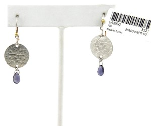 GURHAN 20783 - Gurhan Lush Hues Sterling Iolite Disc Hook Dangle Earrings