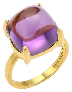 f7493b53e Added to Shopping Bag. Tiffany & Co. 17553. Paloma Picasso Amethyst Sugar  Stack 18k Gold Ring
