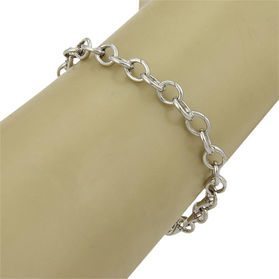 Tiffany Co Solid Platinum All Clasping Oval Link Bracelet
