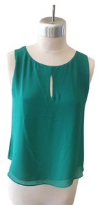 Naked Zebra Sleeveless Keyhole New Top Green