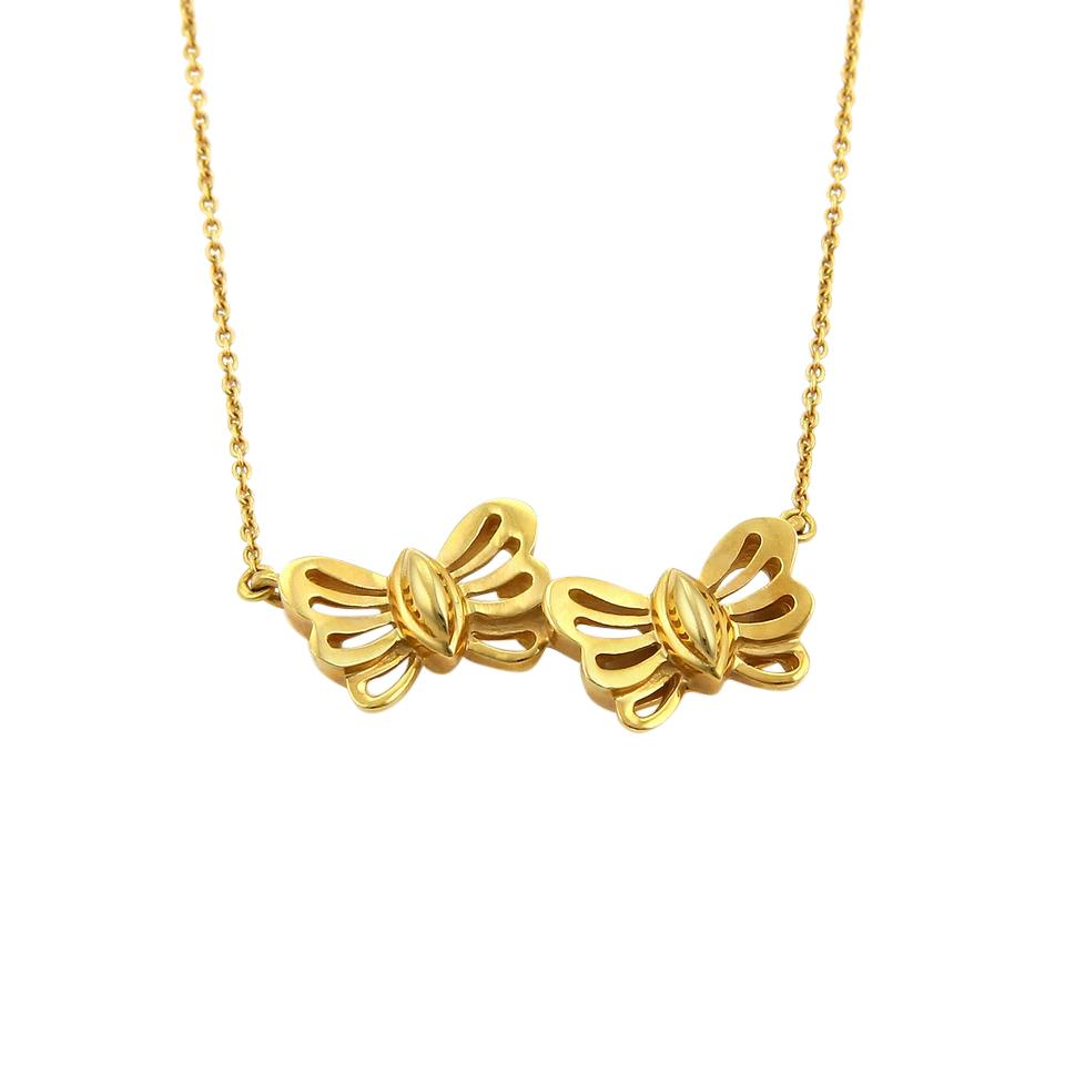 Tiffany co 18046 double butterfly pendant in 18k yellow gold tiffany co double butterfly pendant in 18k yellow gold aloadofball Image collections