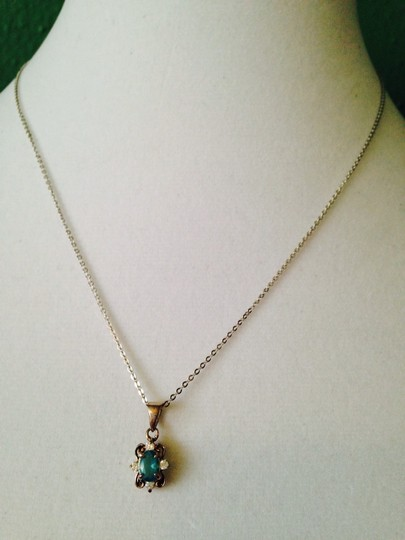 Other 2-Piece Set, Simulated Blue Topaz & Diamond Necklace & Earrings In Sterling Silver