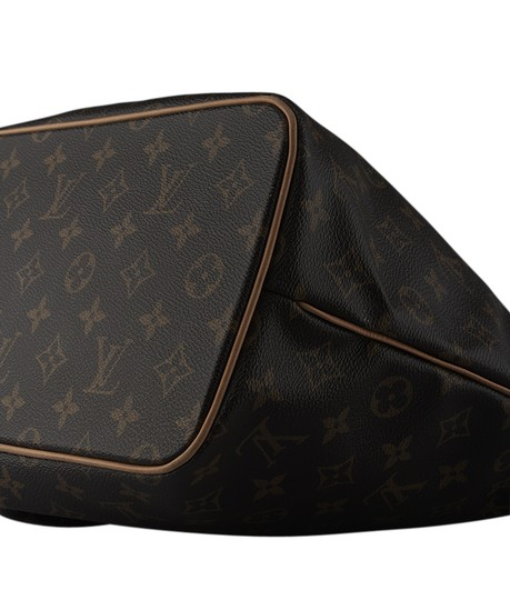 Louis Vuitton Coated Canvas Satchel in Brown Image 7