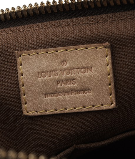 Louis Vuitton Coated Canvas Satchel in Brown Image 9