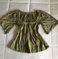 Green Embroidered Peasant Blouse Size 4 (S) Green Embroidered Peasant Blouse Size 4 (S) Image 2