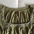 Green Embroidered Peasant Blouse Size 4 (S) Green Embroidered Peasant Blouse Size 4 (S) Image 6