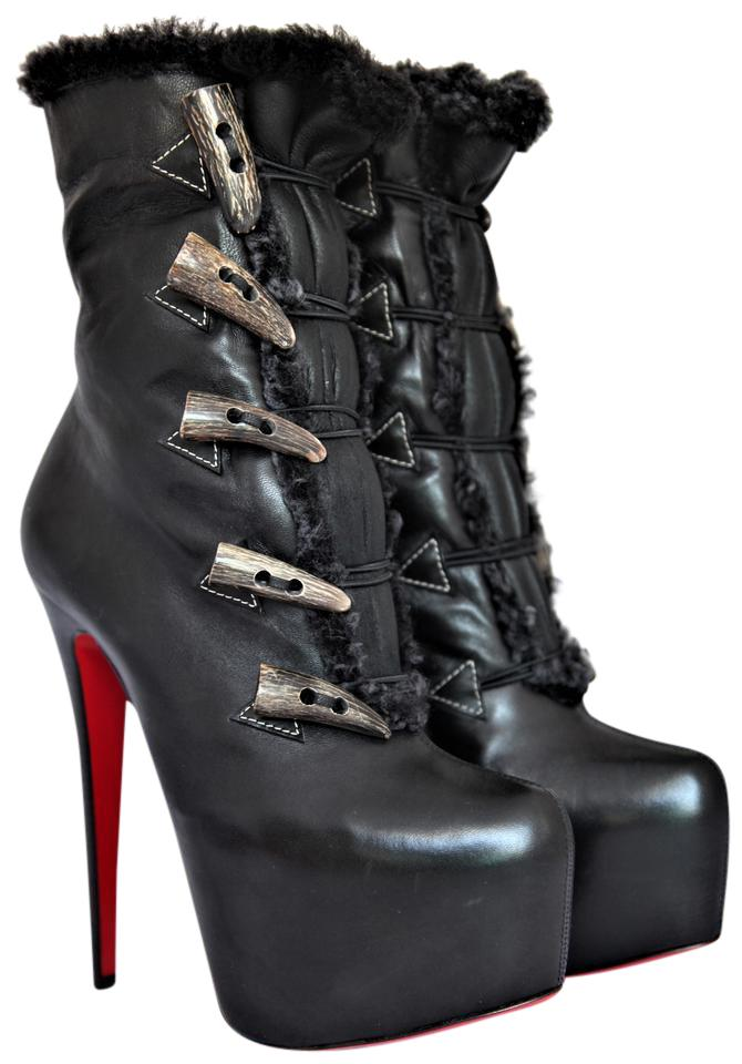 f55cde61dbb5 Christian Louboutin Black New Oulanbator 38it Platform 160 High Heel Lady Red  Sole Toe Daf Ankle Boots Booties. Size  ...