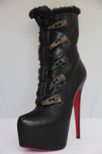 Christian Louboutin Ankle Daffodile Thigh High Over The Knee Black Boots Image 2