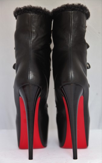Christian Louboutin Ankle Daffodile Thigh High Over The Knee Black Boots Image 6