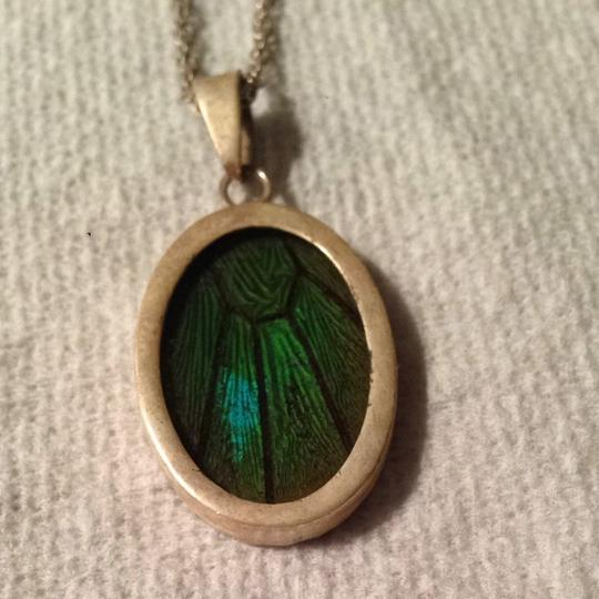 Evolution Genuine Butterfly Wing Pendant In Silver