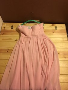 Donna Morgan Blush Laura Ruched Sweetheart Dress