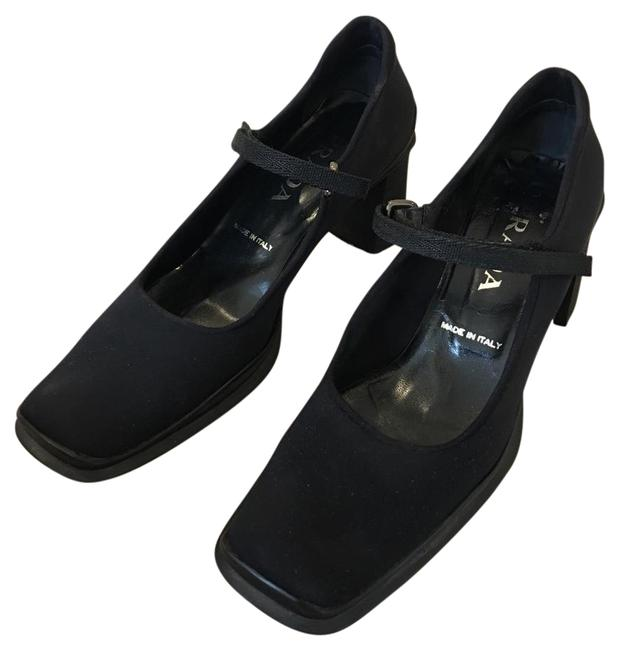 Item - Black Funky Mary-jane Stacked Heel Flats Size US 9.5 Regular (M, B)