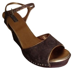 Prada BRONZE Wedges